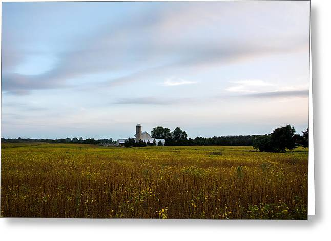 Field. Cloud Greeting Cards - Autumn sunset Greeting Card by Julius Virca