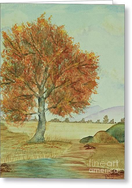 Terri Waters Paintings Greeting Cards - Autumn Greeting Card by Terri Mills