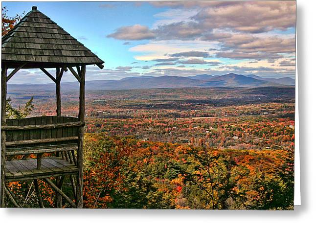Autumn View Greeting Card by June Marie Sobrito