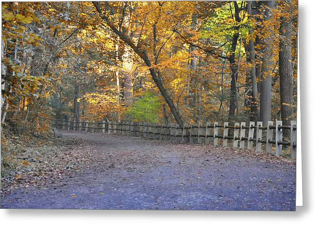 Autumn Walk Near Valley Green Greeting Card by Bill Cannon