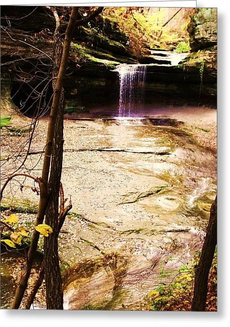 Anna Villarreal Garbis Greeting Cards - Autumn Waterfall II Greeting Card by Anna Villarreal Garbis