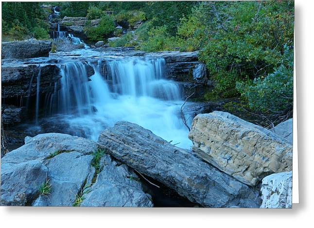 River View Greeting Cards - Autumn waterfall Greeting Card by Jeff  Swan