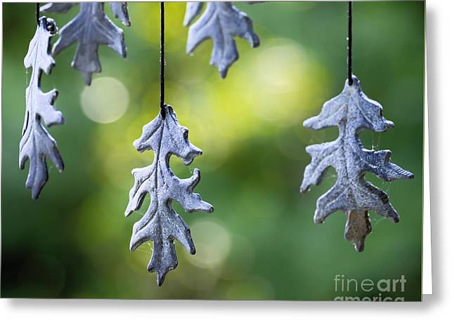 Wind Chimes Greeting Cards - Autumn Wind Chimes Greeting Card by Patrick M Lynch