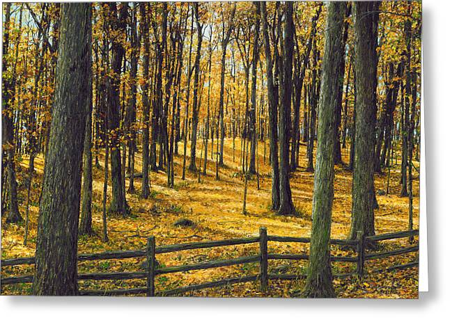 Fall Trees Greeting Cards - Autumn Woodland Greeting Card by Doug Kreuger