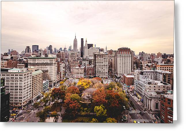 Autumnal Nyc Greeting Card by Chris Martin