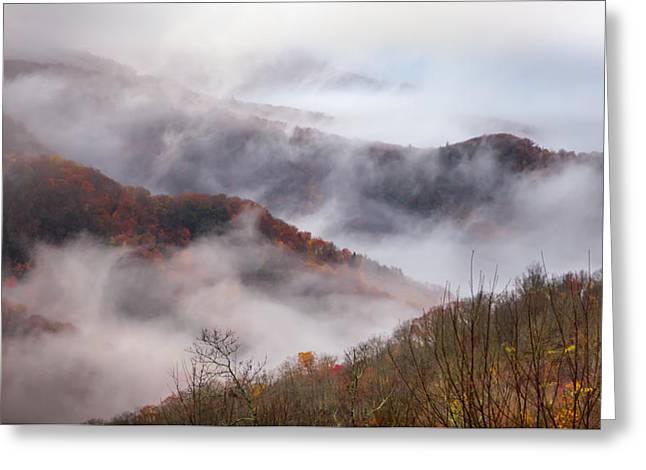 Autumn's Smokey Mountain Mist Greeting Card by Karen Wiles