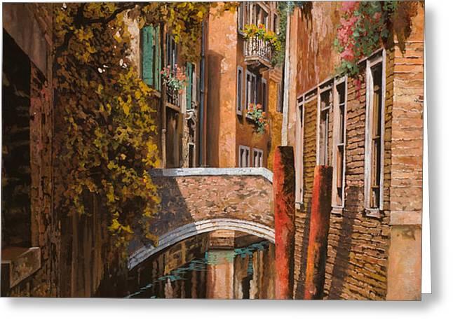 autunno a Venezia Greeting Card by Guido Borelli