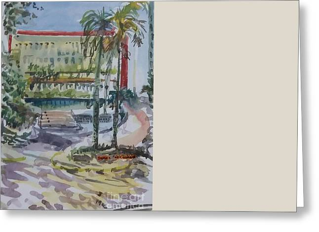 Trianon Greeting Cards - Av. Paulista - Trianon MASP Greeting Card by James McCormack