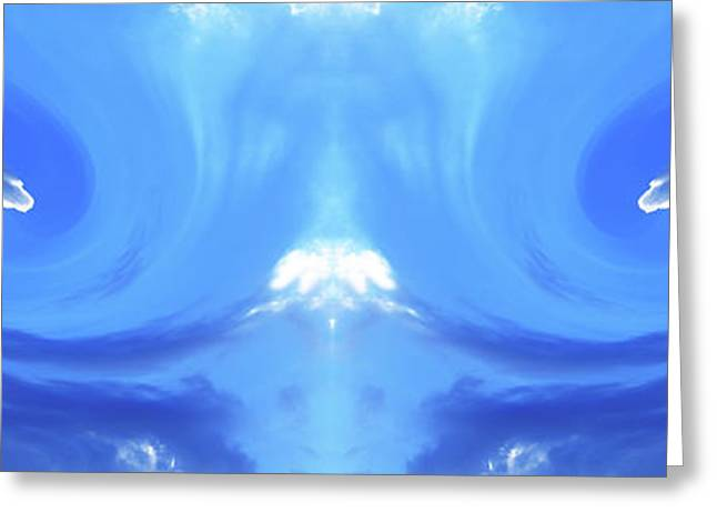 Abstract Digital Photographs Greeting Cards - Avalanche Greeting Card by Anthony Rego