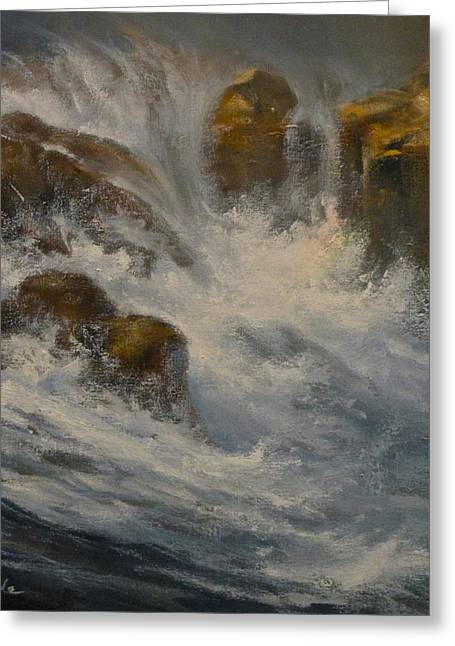 Mia Delode Greeting Cards - Avalanche Falls Greeting Card by Mia DeLode