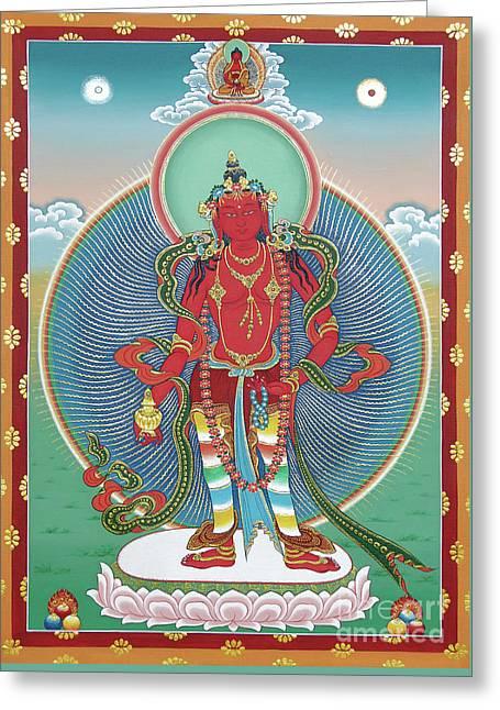 Avalokiteshvara Korwa Tongtrug Greeting Card by Sergey Noskov