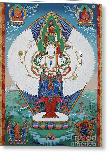 Avalokiteshvara Lord Of Compassion Greeting Card by Sergey Noskov