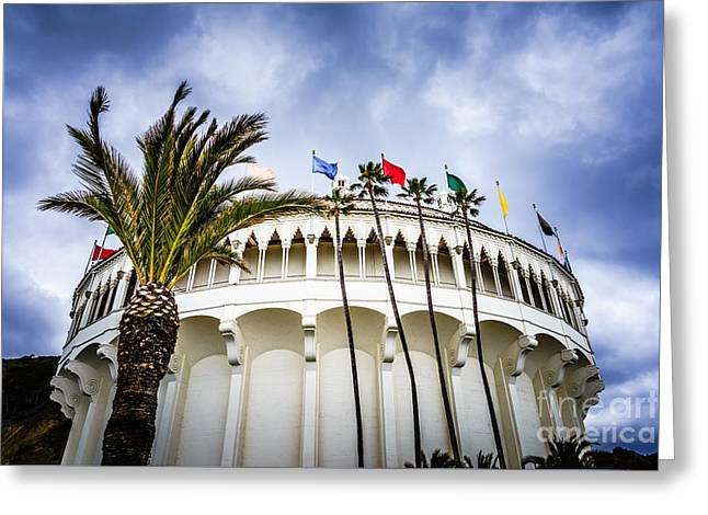 Movie Theater Greeting Cards - Avalon Casino Catalina Island Photo Greeting Card by Paul Velgos