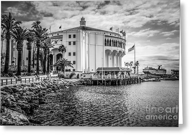 Historical Pictures Greeting Cards - Avalon Casino Catalina Island Picture Greeting Card by Paul Velgos