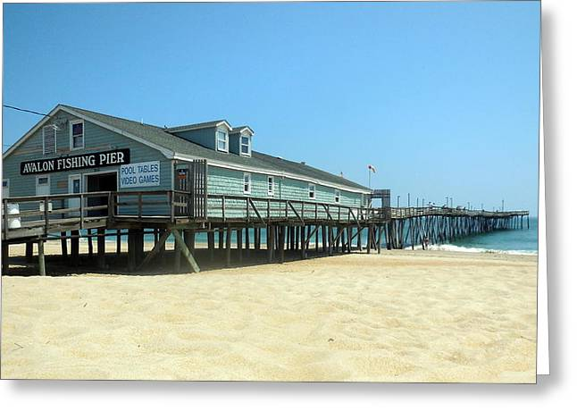 Kite Greeting Cards - Avalon Pier 2 5/19 Greeting Card by Mark Lemmon
