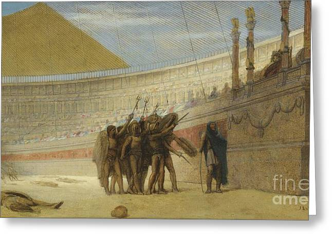 Gerome Greeting Cards - Ave Caesar Greeting Card by Jean-leon Gerome