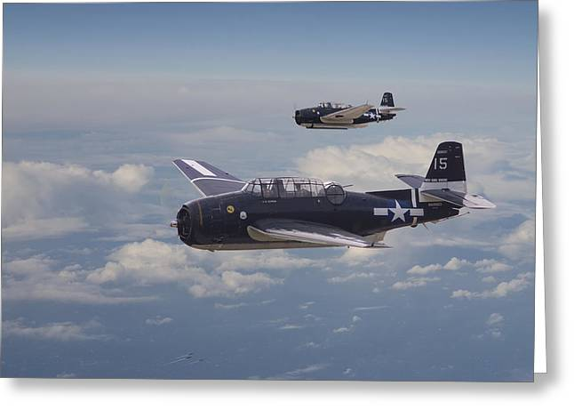 Avenger Strike Greeting Card by Pat Speirs