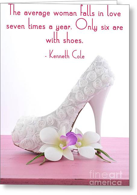 Footwear Love Greeting Cards - Average Woman Falls In Love  Greeting Card by Milleflore Images