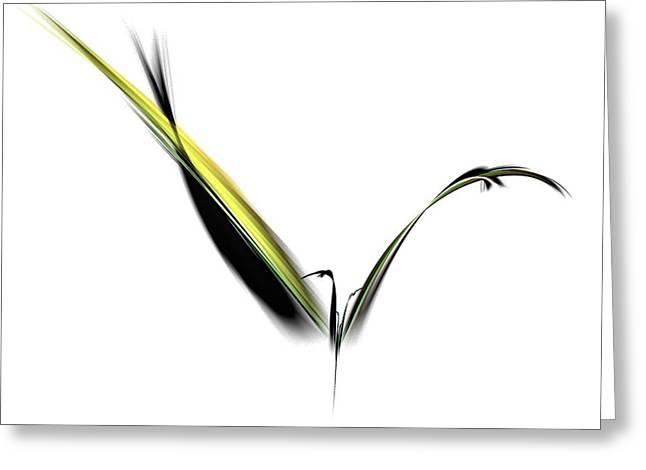 Avian Zen - Fractal Art Greeting Card by NirvanaBlues