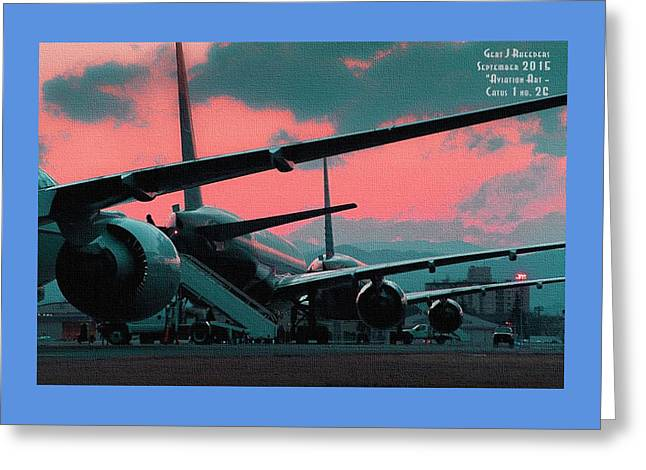 Military Pastels Greeting Cards - Aviation Art Catus 1 no. 26 H A Greeting Card by Gert J Rheeders