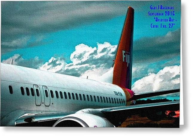 Military Pastels Greeting Cards - Aviation Art Catus 1 no.27 H A Greeting Card by Gert J Rheeders