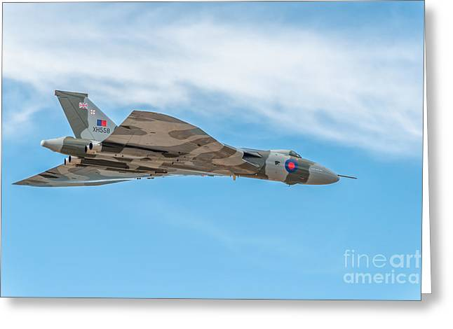 Appearance Greeting Cards - Avro Vulcan XH558  Greeting Card by Adrian Evans