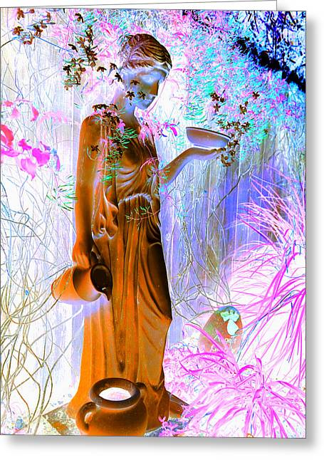 Angel Blues Greeting Cards - Awaiting for your return Greeting Card by Giorgio Tuscani