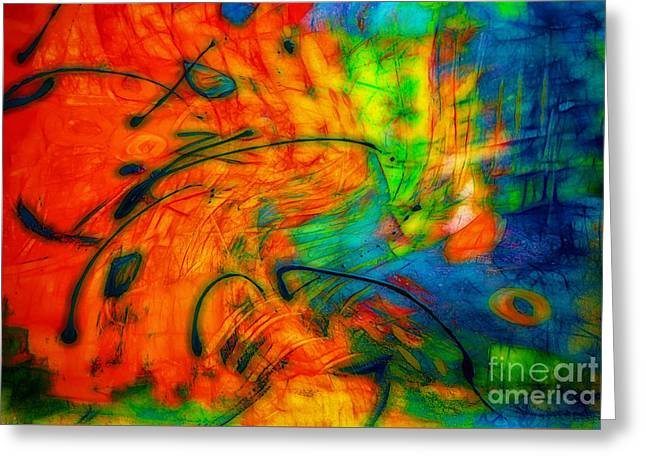 Energize Paintings Greeting Cards - Awaken to Love Greeting Card by Francine Collier