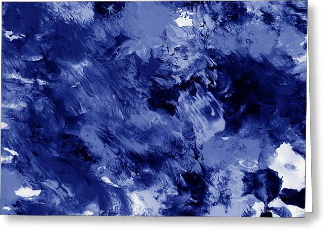 Awakened Sky- Abstract Art By Linda Woods Greeting Card by Linda Woods