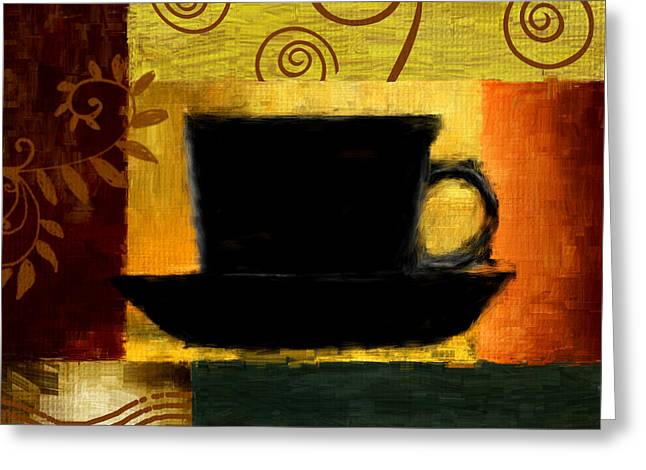 Downtown Cafe Greeting Cards - Awakening Greeting Card by Lourry Legarde