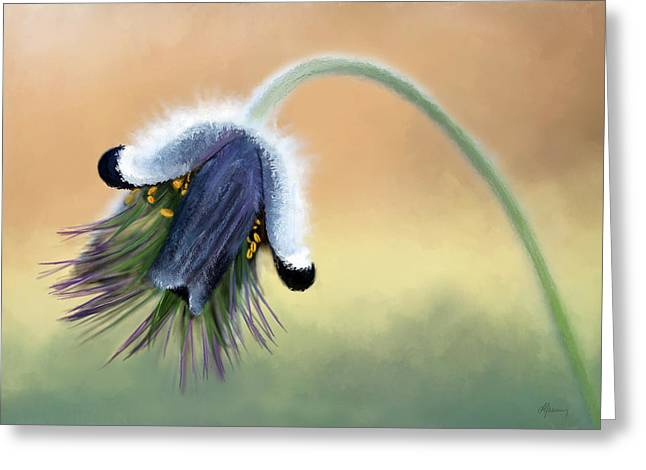 Time2paint Greeting Cards - Awaking Bud Greeting Card by Michael Greenaway