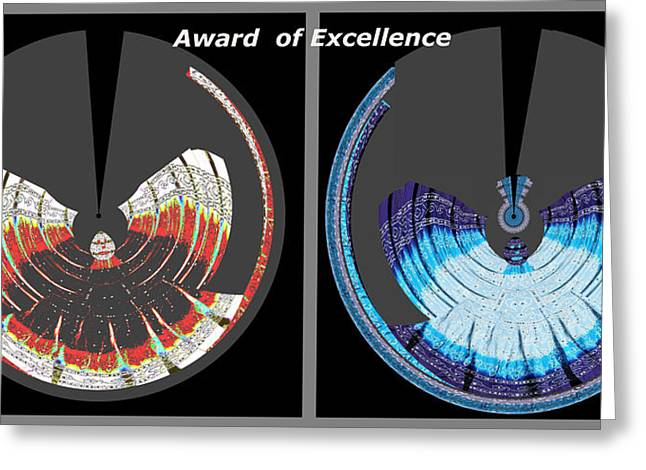 Personal-growth Greeting Cards - Award of Excellence Graphic signature art by Navin Joshi Greeting Card by Navin Joshi