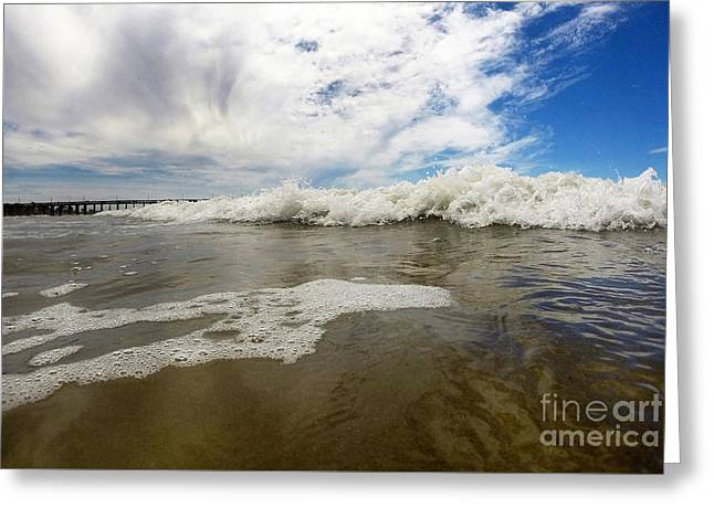 California Ocean Photography Greeting Cards - Awash Ashore Greeting Card by Dan Holm