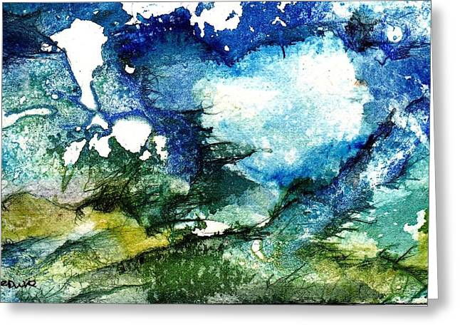 Mystical Landscape Greeting Cards - Away Greeting Card by Anne Duke