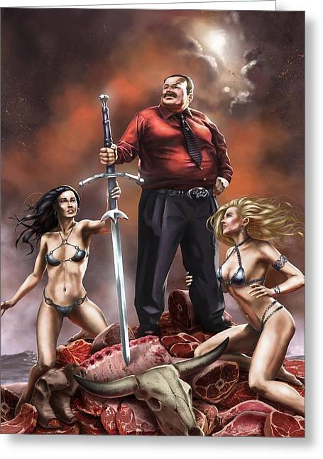 Concubine Digital Greeting Cards - Awesome Sword Greeting Card by John Petersen