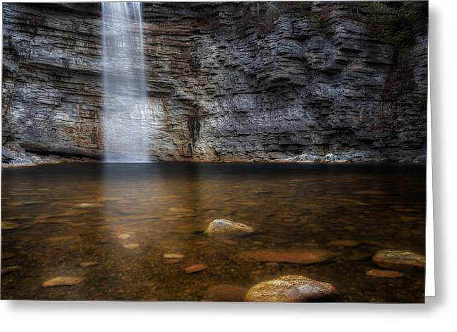 Ethereal Waterfalls Greeting Cards - Awosting Falls Greeting Card by Bill Wakeley