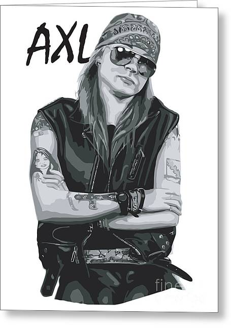 Photomonatage Digital Greeting Cards - Axl Rose Greeting Card by Caio Caldas