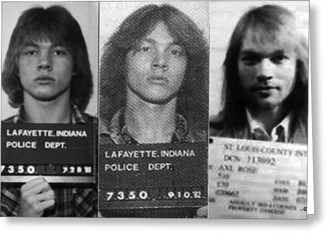 Axl Rose Mug Shots Through The Years Horizontal Photo Greeting Card by Tony Rubino