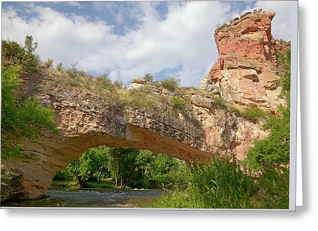 Ayres Natural Bridge Greeting Card by Loree Johnson