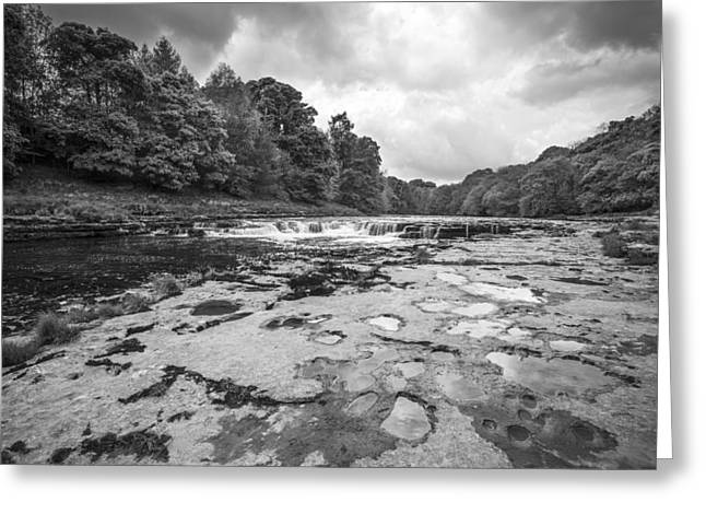 Aysgarth Falls Greeting Card by Stewart Scott