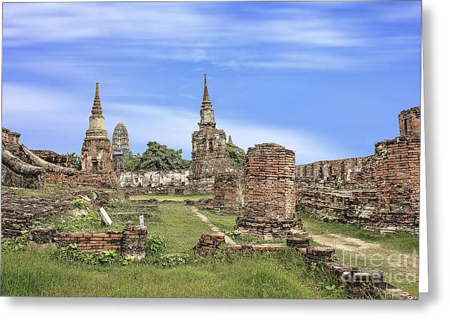 Civilization Greeting Cards - Ayuthaya kingdom history Greeting Card by Fineart Photographs
