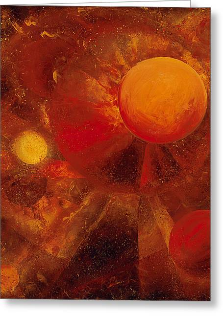 Circles Greeting Cards - Azimuth Greeting Card by Laura Swink