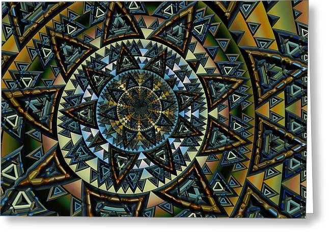 Aztec Greeting Card by Amanda Moore