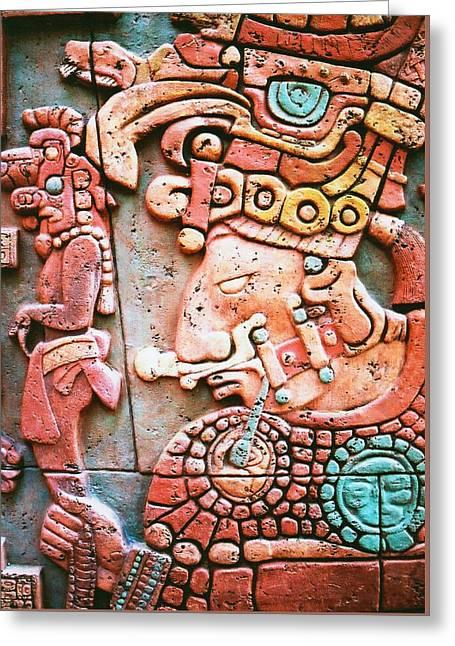 Civilization Greeting Cards - Aztec Art Greeting Card by Carlos Romero