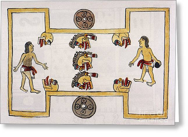 Skill Game Greeting Cards - Aztec Ball Game Greeting Card by Granger