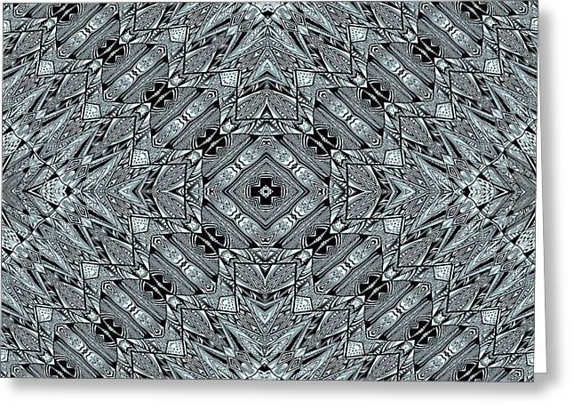 Geometric Image Greeting Cards - Aztec Navajo Pattern Background Greeting Card by Nenad  Cerovic