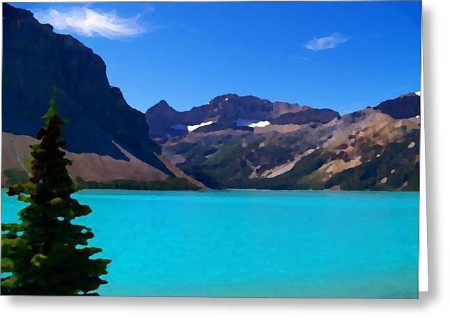 Azure Blue Mountain Lake Greeting Card by Greg Hammond