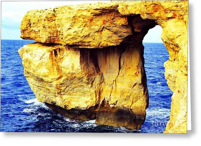 Azure Window Island Of Gozo Greeting Card by Thomas R Fletcher