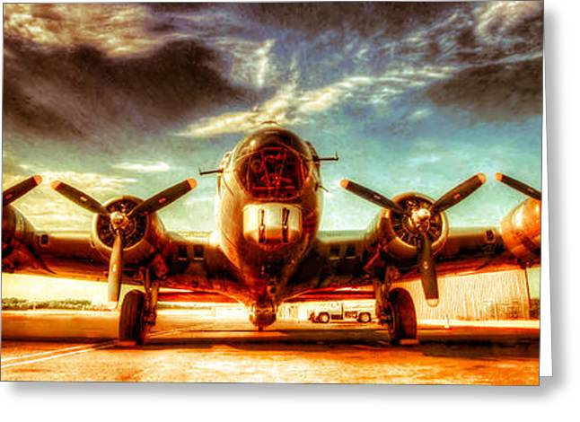Military Airplanes Greeting Cards - B-17 Aluminum Overcast  Greeting Card by Rod Melotte