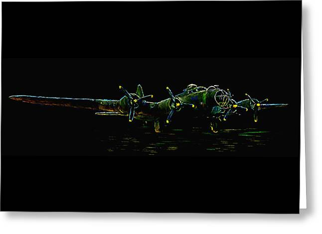 B-17 At Rest Greeting Card by Tim Tompkins